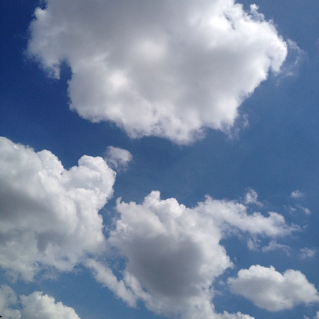 Perfect puffy cloud sunshiny day! #justwhatineeded #IChooseBeauty Day 560