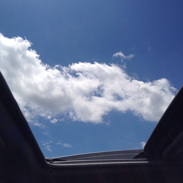 Sun is finally out. Moon roof is open. Perfection. #IChooseBeauty Day 577