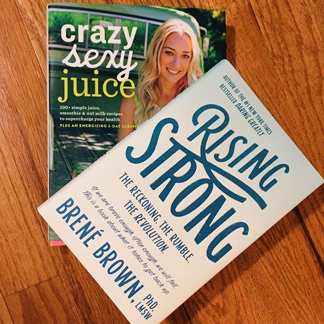 So excited to dive in to these 2 powerful books! Ready to better my diet and my mind. ️ #crazysexyjuice #risingstrong #IChooseBeauty Day 715