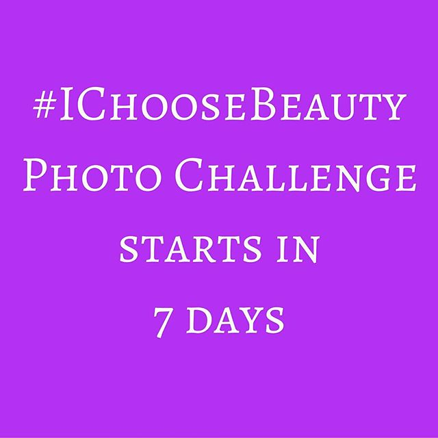 """Challenge starts Monday, January 18! Join me and get daily email prompts for two weeks telling you what """"thing of beauty"""" to photograph. Share your image on Instagram using the hashtag #IChooseBeauty. It's 14 days of guided beauty treasure hunts to help change how you see the world. Link in bio. #IChooseBeauty"""