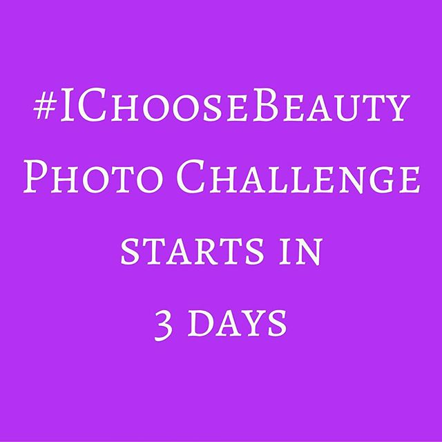 """Challenge starts Monday, January 18! Join me and get daily email prompts for two weeks telling you what """"thing of beauty"""" to photograph. Share your image on Instagram using the hashtag #IChooseBeauty. It's 14 days of guided beauty treasure hunts to help change how you see the world. Link in bio."""