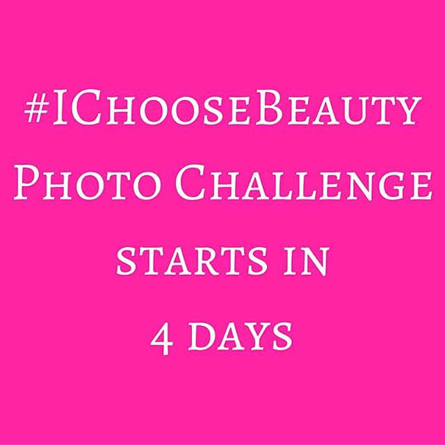 """Challenge starts Monday, January 18! Join me and get daily email prompts for two weeks telling you what """"thing of beauty"""" to photograph. Share your image on Instagram using the hashtag #IChooseBeauty. It's 14 days of guided beauty treasure hunts to help change how you see the world. Link in bio"""