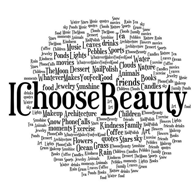 Congrats on making it through the #IChooseBeauty Photo Challenge! You should be proud of yourself. Look at all the pictures you posted over the past two weeks - they are proof of all the beauty in your world. It really is all about the little things. And I truly hope the challenge helped you to start feeling more positive and grateful... and have more moments of joy in everyday life.Just because the challenge is over doesn't mean you can't keep posting your beauties on Instagram. I will still look for your pictures and support you in the hashtag feed.If you have a minute, I'd love to know what you thought of the challenge - just leave me a comment with your feedback. Thank you so much for joining me!