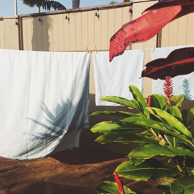 Loving the freshness of sun drying our linens. Takes me back to my childhood. #itsthelittlethings #IChooseBeauty Day 863