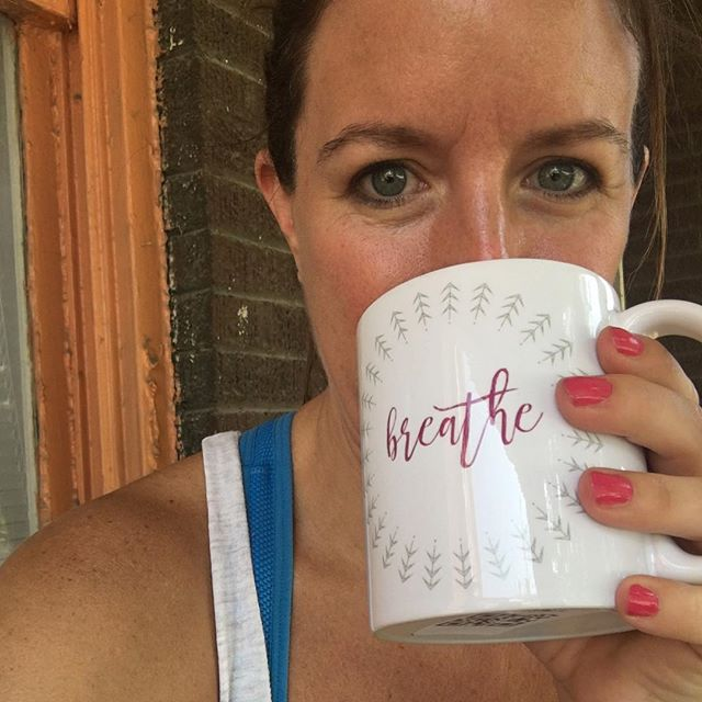 How about this beauty? @kristen_812 looking good suiting on her Breathe mug from the new Notes to Self collection. 5% of proceeds goes to Mental Health America. Click link in bio to shop the entire line. #mentalhealthawareness #IChooseBeauty