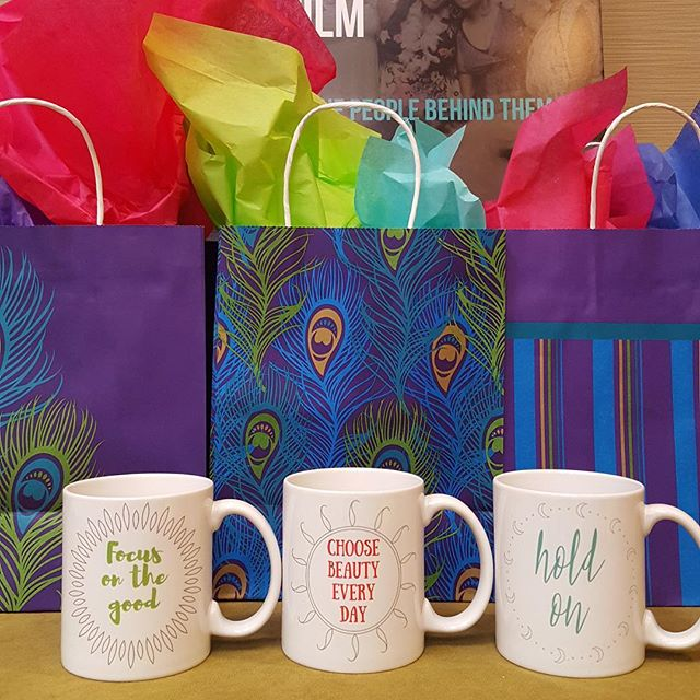 My mugs representing at a raffle at Mental Health America's conference. So happy I could help here. ️ Click link in bio to shop the entire Notes to Self collection. 5% of proceeds goes to Mental Health America. #mentalhealthawareness #IChooseBeauty