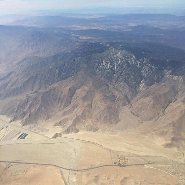 Palm Springs from the sky. Gorgeous! #IChooseBeauty Day 975