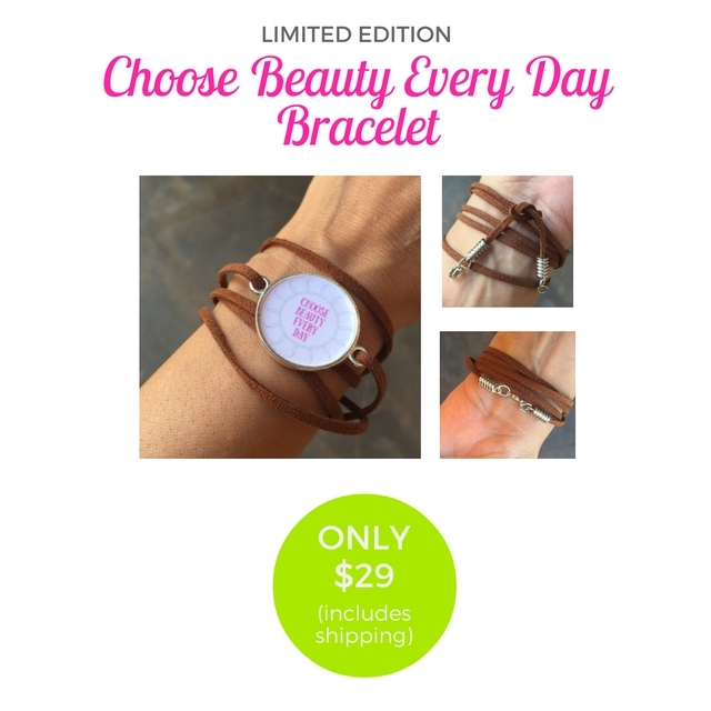 """This week only --- a feel-good Limited Edition special just for you. I created this """"Choose Beauty Every Day"""" faux leather wrap bracelet to remind you to always look for the beauty in life. You can order it by itself for just $29, and shipping is on me (U.S. and Canada only). Enter code FREESHIPPING at checkout. Link in bio.. OR choose from two other options - the bracelet plus a YUMMY tropical soap/lotion combo handmade here in Hawaii; or the bracelet + the soap/lotion set + two single-servings each of my favorite vegan Vanilla Plant Protein and Greens Blend to fuel your body and mind. All the deets are in the link in the bio. And 5% of the net proceeds goes to @MentalHealthAm"""