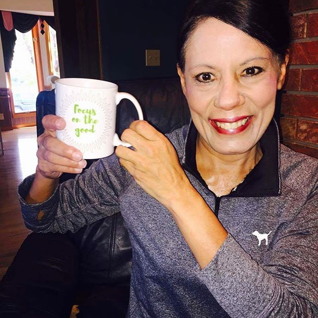 "YOUR PICK: The lovely and talented @brendacadenhead with her #IChooseBeauty ""Focus on the good"" mug. Thanks for your support, Brenda! ️.Shop the entire Notes to Self collection of mugs, t-shirts, totes, and more! Lift your spirits while you spread the healing --- with every purchase, #IChooseBeauty donates 5% of net proceeds to @mentalhealthamerica Link in bio"