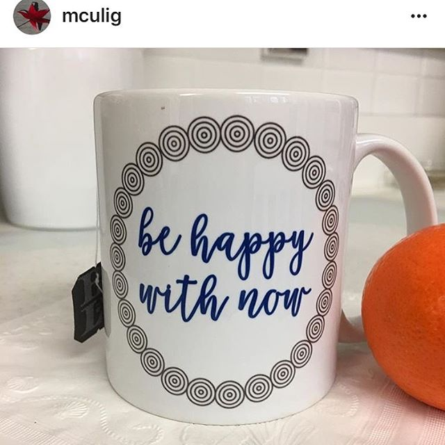 Your desire to want more doesn't mean what you have now isn't meaningful. You can still go after your dreams. But be happy with now and be grateful for all that you already have. Thanks @mculig for the photo - I love seeing our mugs in their new homes. 5% of net proceeds goes to @mentalhealthamerica Link to shop in bio #IChooseBeauty