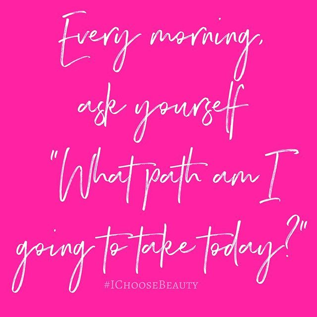 Every morning, set your intention for the day. What path will you choose to take? One of worry, anger, creativity? Focus on what will be good that day, and remember it as you go about whatever you're doing. #MondayMotivation #IChooseBeauty