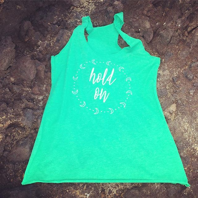 When you don't think you can take anymore, remember that whatever you're going through won't last. Click link in bio to shop the Hold On tank and more. 5% of net proceeds goes to @mentalhealthamerica #holdon #IChooseBeauty