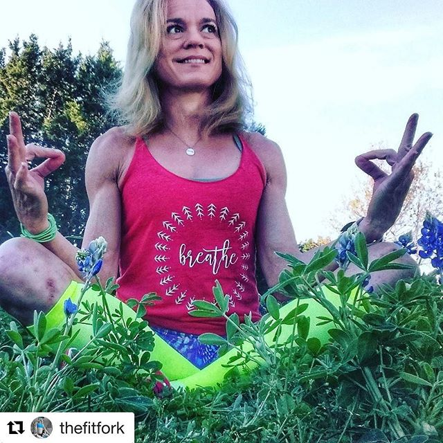 Just breathe. Loving @thefitfork in red! Link to shop tanks in bio. 5% of net proceeds goes to @mentalhealthamerica #IChooseBeauty .#Repost @thefitfork with @repostapp・・・Breathing is an involuntary reflex, but to slow down and really BREATHE is a mindful action that improves my day and reinforces my gratitude for another 24 hours alive.