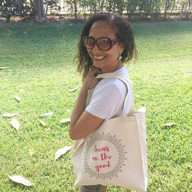 Focus on the good. Click link in profile to shop totes. 5% of net proceeds goes to @mentalhealthamerica #IChooseBeauty