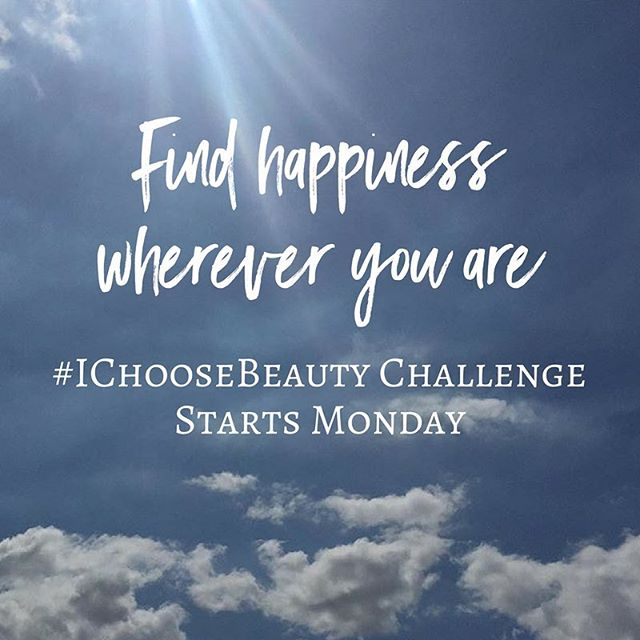 "Find happiness wherever you are. Join the #IChooseBeauty Challenge starting Monday! Get daily email prompts for two weeks telling you what ""thing of beauty"" to photograph. Then share your image on Instagram using the hashtag #IChooseBeauty. It's 14 days of guided beauty treasure hunts to help you find happiness wherever you are. And I'll be there to support you every step of your journey. Link in bio to sign up! @ichoose.beauty"