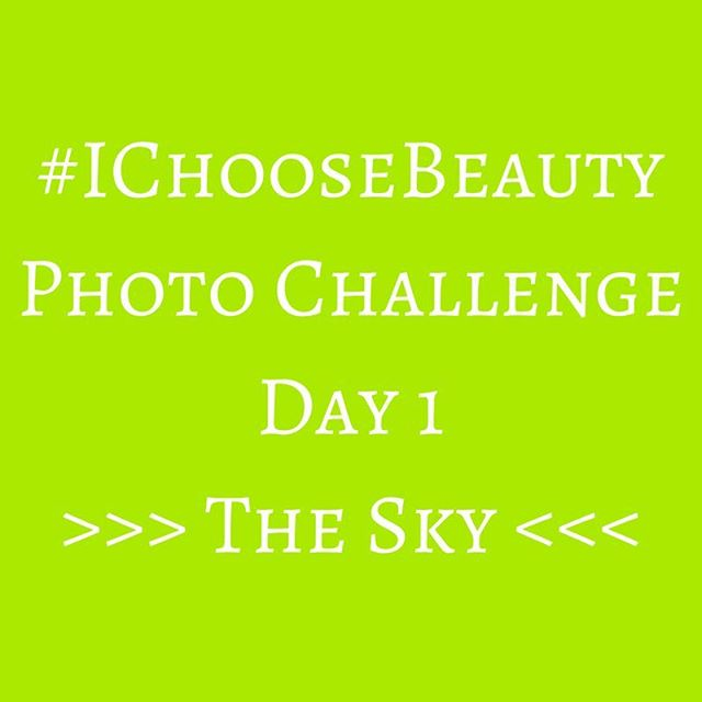Welcome to the #IChooseBeauty Photo Challenge! I'm so excited that you're joining me for 14 days, and hope this project can help you find happiness wherever you are, as it has done for me. When I started really looking for beauty around me almost four years ago, I was surprised at how many things were out there that I didn't notice as I went about my day. It really comes down to paying attention to the little things in life, which is where we'll start today:.Today's challenge is to take a picture of the sky - whether it's a sunrise, clouds or the moon. If it's a dark cloudy day where you are, try looking at the sky through the limbs or leaves of a tree for a different perspective. Just look up and appreciate the beauty we have above us every day..Post your picture on Instagram using the hashtag #IChooseBeauty..Take a minute to browse through the hashtag feed to see the beautiful way others see the world - it'll enhance the experience of the next two weeks..Comment and double-tap on each other's posts to show your support for your co-Challengers. And I'll be doing the same!