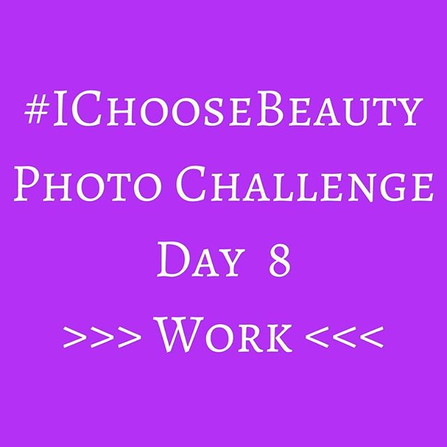 Congrats on making it to Week 2 of the #IChooseBeauty Challenge! I hope you're noticing things around you that maybe you bypassed before. And I hope you're starting to realize how much beauty you have in your life..Your challenge today is to look at Mondays in a whole new way. Instead of dreading the beginning of the work week, focus on a part of work that you like, maybe even love - a co-worker, your favorite part of your job, something on your desk. Whether you love your job or hate it; whether you're a stay at home mom, entrepreneur or traditional employee, bring it! And if you don't work, find something you like about school or whatever else it is that you do..Post your picture using the hashtag #IChooseBeauty. Check out everyone else's images to see their work/school love. Comment and like and support your co-challengees! ☮️