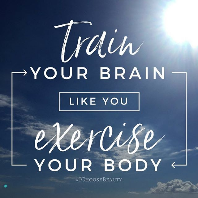 Train your brain like you exercise your body..This is something I have to constantly remind myself! If I get off track with my journaling and positive self talk, I can definitely feel it. Just like when I skip a few days of exercise..When you're feeling down, it takes a lot of work to shift your mind away from negative thinking. Once you start feeling good, don't make the mistake of stopping those efforts. That would be like working out until you reach a goal and then becoming sedentary and expect to magically stay in shape. Both your body and your brain need consistent exercise to be healthy. #motivationmonday #IChooseBeauty