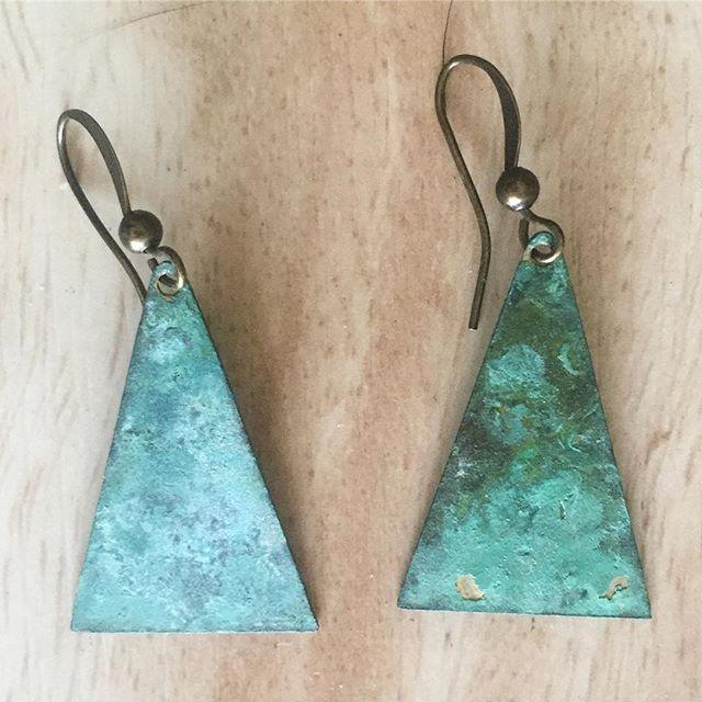 New earrings made by a local artist. #lovehandmade #IChooseBeauty Day 1354