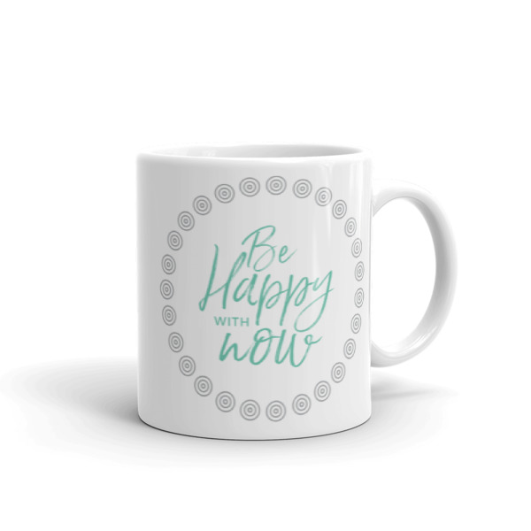 Be happy with now – Mug