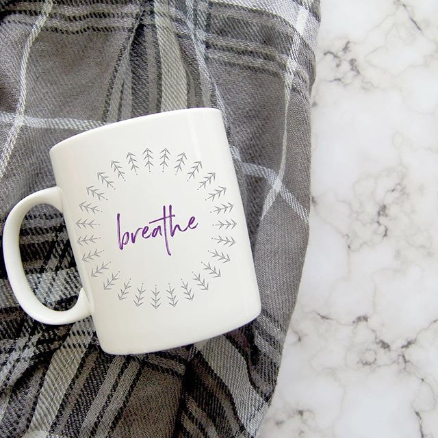 Inhale calm and exhale stress. Inhale the good things in your life, exhale the bad. Inhale confidence, exhale doubt. Link to shop in bio. 5% of net proceeds goes to @mentalhealthamerica #IChooseBeauty