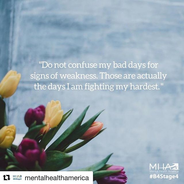 #MentalHealthMonday: The constant fight can be exhausting. That's why it's important to arm yourself with the coping tools that help you the most. #keepgoing #IChooseBeauty. . . #Repost @mentalhealthamerica with @get_repost・・・Learn from your experiences. The more experience someone has with something, the better they usually are at dealing with it. Treat every experience you have as a learning one. If you have made a lot of progress and then have an episode, don't think of it as taking a step back. Try and think of it as the next foot forward. For example, if you are hospitalized, try not to think about it as a disruption of your progress but rather a lesson about what triggers you to get to that stage. Think of it as having a toolbox, and each time something happens, take something from the experience and put in your toolbox for the next time you feel something coming over you. It's important to equip yourself with information and tools to manage your symptoms if and when they return. You can't always predict when these bad days will happen, but you can predict how you will react.