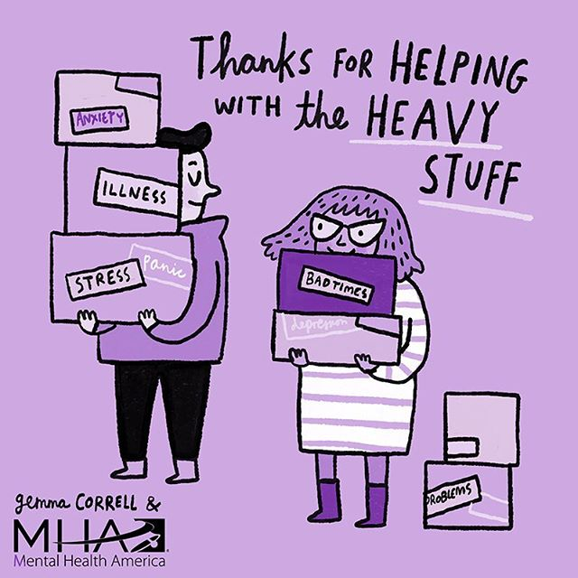 Today's @mentalhealthamerica #4mind4body challenge is about showing a little love to the important people in your life to help both you and them feel good. And in that spirit, I'm sharing this creative feel-good e-card fromMHA partner and super talented artist @gemmacorrell Tag someone in the comments who could use a little pick-me-up... and feel free to repost to spread the love. #feelgoodthursday #mhm2018 #IChooseBeauty Day 1646