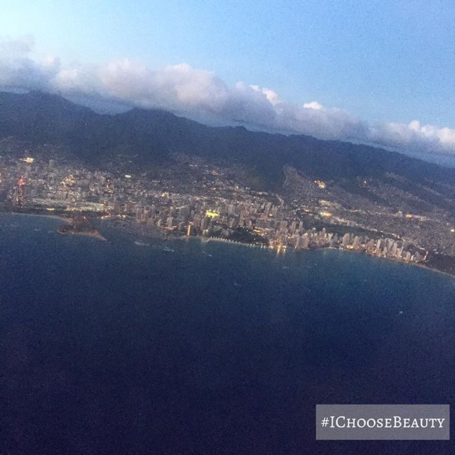 #tbthursday to this bird's-eye view of Honolulu earlier this month. #newperspective #fromupabove #IChooseBeauty Day 1709