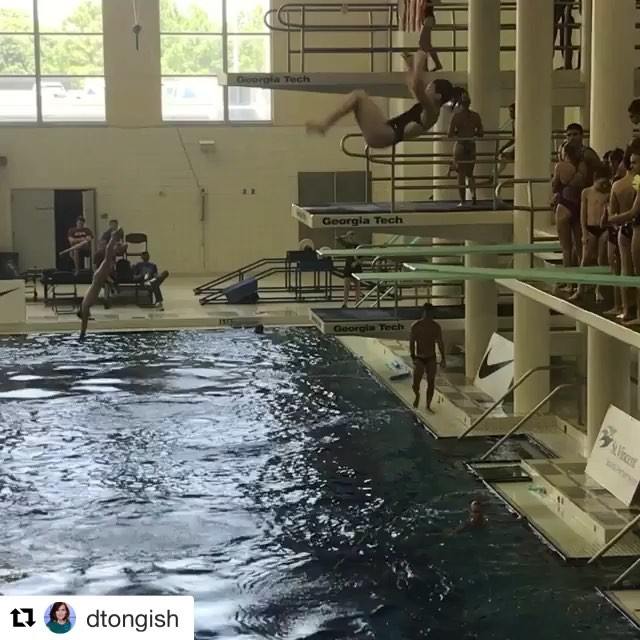I am in awe every time I see my dear friend's daughter dive. You're incredible @dillanjdelugo Congrats!!! #IChooseBeauty Day 1715#Repost @dtongish with @get_repost・・・Good luck to Dillan who competes in 3 meter semi finals this morning. She pre-qualified by placing top 3 at Zones and now faces 30 of the best divers in the country. 12 move on to finals. Go @dillanjdelugo #DillanDiver 🏻