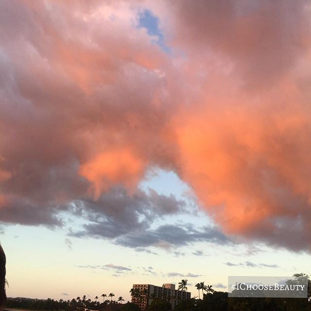 So in love with these orange cotton candy clouds. 🧡🧡🧡 #IChooseBeauty Day 1748