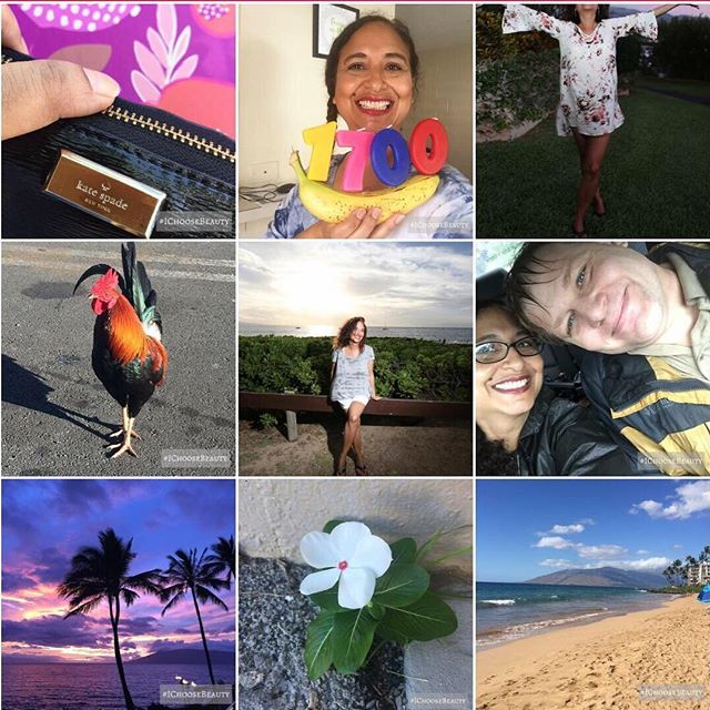 2018 was both challenging and beautiful, and looking back, it taught me so much that I'll share with you next year. .My Top 9 shows your favorites including a few pictures of beauty I captured, me and Paul grateful Hurricane Lane missed us, and celebrating a milestone of #ichoosebeauty..But the top left post probably had the most impact. This was the day Kate Spade took her life. It shocked me (and many of you) and reminded me that we have so much work to do to bring more awareness to mental health. I feel like my purpose on this earth is to share my journey from darkness to light, and hope that it empowers you to heal..Thanks for being a part of this incredible community, and for all your support and inspiration this year. .Here's to a beautiful 2019. #ichoosebeauty Day 1867 #topnine2018