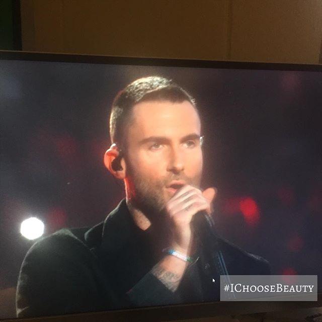 Looking good, Adam. ☄️#superbowl53 #halftimeshow #ichoosebeauty Day 1901