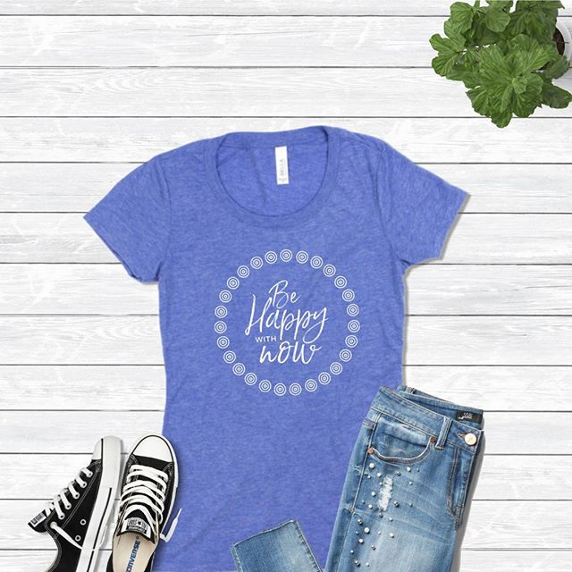 BE HAPPY WITH NOW: Our desire to want more doesn't mean what we have now isn't meaningful. You can still go after your dreams. But as you do, you must be grateful for all that you already have..Tees come in Purple, Green, and Blue Tri-blend. FREE shipping on U.S. orders $50 or more. 5% of net proceeds goes to @mentalhealthamerica. Link to shop is in my bio. #ichoosebeauty..........#mentalwellness #mentalhealthawareness #mentalhealthmatters #mentalhealthsupport #depressionrecovery #mentalhealthadvocate #mentalhealthblog #mentalhealthblogger #mentalhealthrecovery #mentalhealthwarrior #inspirationoftheday #inspirationdaily #inspirationalpost #inspirationalwords #inspirationquotes #mantras #quotesandsayings #quotestoinspire #quotestoremember #quotesforlife #quotesforyou #therapy #recoveryispossible #endthestigma #behappywithnow