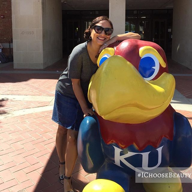My love runs deep. ️️#marchmadness #rockchalk #kansasgirl #ichoosebeauty Day 1949