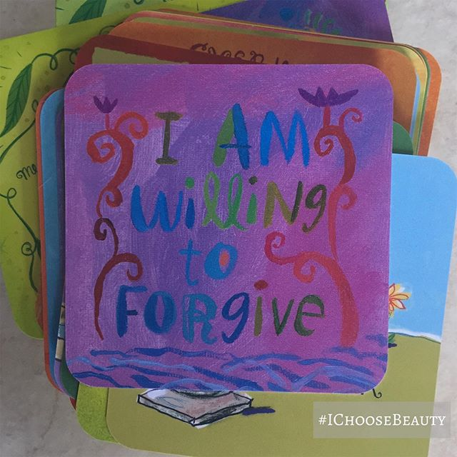 Loving today's message from my @louise_hay_affirmations Power Thought card deck. Swipe to see the back, which explains the importance of forgiveness. ️ #ichoosebeauty Day 2006
