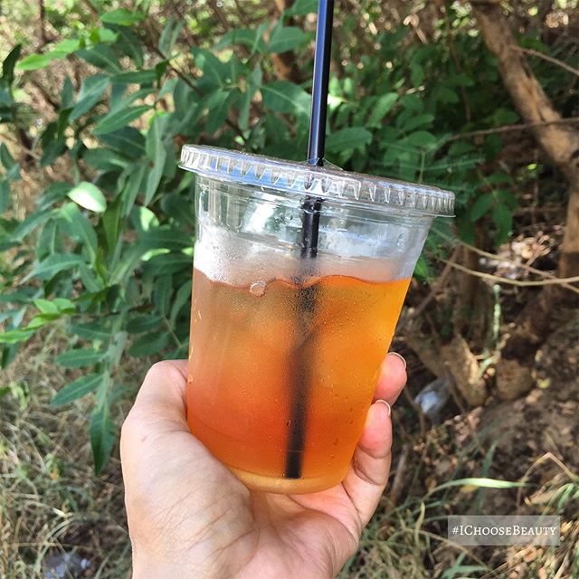 Currently hooked on iced rooibos tea. #ichoosebeauty Day 2020