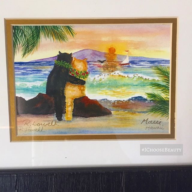 How sweet is this artwork at our vet's office? palm tree 🏝 🏝 #ichoosebeauty Day 2130