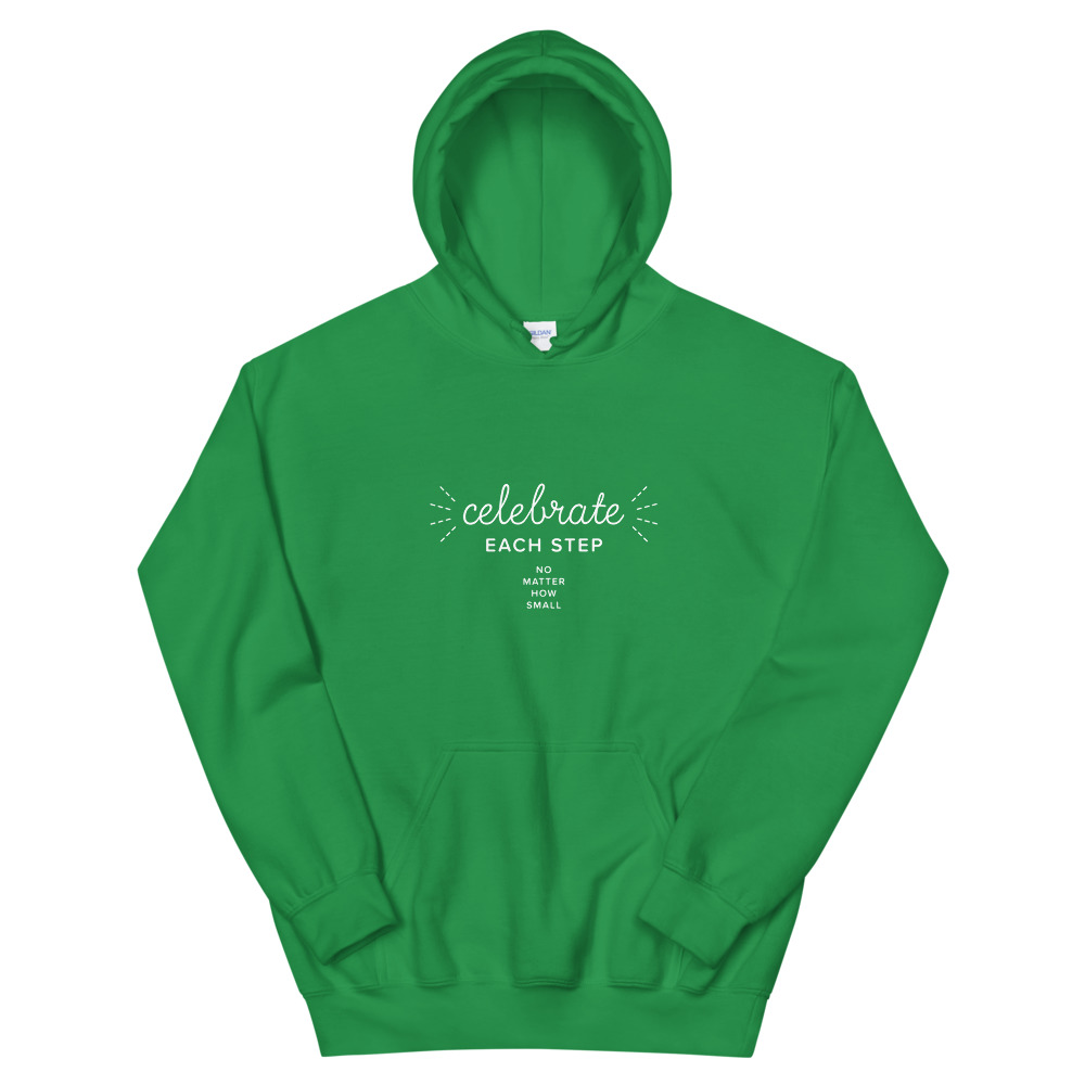 Celebrate each step, no matter how small – Unisex Hoodie