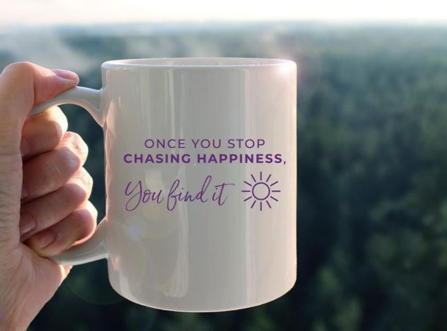 ONCE YOU STOP CHASING HAPPINESS, YOU FIND IT⁠⁠Stop thinking you'll only be happy once this, that, or the other happens (new job/house/boyfriend, when you reach a certain weight, etc.). How will you ever have happiness right now if you believe it's somewhere else?⁣⁠⁠All of our mugs are created using the healing power of words, and come in two sizes - 11 oz. and 15 oz.⁣⁠⁣⁣⁠⁣⁠⁠5% of net proceeds goes to @mentalhealthamerica. Link to shop is in my bio.⁣⁠⁣⁣⁠⁣⁠⁠⁠⁠⁠⁠⁠⁠⁠#ichoosebeauty #happinesseverywhere #happinessisachoice #happinesswithin #happinessisastateormind #happinesstherapy #chasinghappiness #mugsofinstagram #coffeemuglove #mugshot #coffeemugs #coffeemugsofinstagram #coffeemugoftheday #coffeemugaddict #inspirationalwords #inspirationalthoughts #inspirationalmessage #wordstoremember #wordstoinspire #thoughtsinwords #wordsoflife #wordsofinspiration #liveinspired #giftsforfriends #perfectgifts