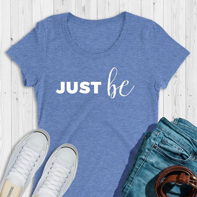 JUST BERight now, at this actual time, this very second that you're in... feel at peace with just being here and letting this moment be enough. Let the judgment go… and just be.Tees come in your choice of purple, green and blue triblend. 5% of net proceeds goes to @mentalhealthamerica. Link to shop is in my bio. #ichoosebeauty #wearabletherapy #wearableart #wordsofencouragement #justbe #nojudgment #atpeace #atpeacewithmyself #thismoment #inspirationalwords #inspirationalmessage #inspirationalthoughts #takecareofyou #mantras #giftideasforher #giftsforfriends #womenownedbusinesses #happinesscomesfromwithin #findyourhappiness #findhappiness #createyourownhappiness #happinesstherapy #innerhappiness #happinessisallaround #happinesswithin #happinessmatters #happinessisastateofmind #happinesseverywhere