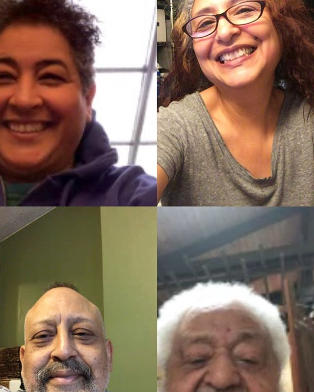 Virtual chat with the fam. It was so good to see these faces, even if they're not in frame lol  Anyone else video-gathering these days? #ichoosebeauty Day 2314