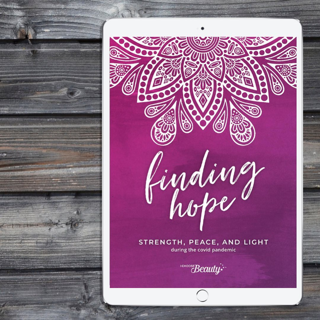 "Introducing... the new ""Finding Hope"" four-week digital journal - I created this for you to help get through these challenging times.⁣⁣Think of it as your personal space to really tune in to your heart and mind, and to reflect on all the good in your life in the midst of the coronavirus pandemic. The idea is to help lift your spirits and bring you some peace right now.⁣⁣There's an activity to do every morning, and one to finish every night. The combination of the two exercises will help train your brain to be more positive during these difficult days.⁣⁣Throughout the journal, you'll also find a few empowering quotes and my notes explaining the meaning behind them. These are all based on coping statements I learned in therapy for severe depression. I still rely on them to keep me going when things get tough, like they have been lately.⁣⁣""Finding Hope: Strength, peace, and light during the covid pandemic"" features 40 pages that include:⁣⁣Four weeks (28 days) of morning and evening prompts⁣Blank pages for taking notes⁣Mental health resources⁣Empowering quotes throughout⁣⁣The journal is $14.95, and is designed to be used on your computer or tablet. You can also print it out if that's more your style. :)⁣⁣Lately, I've found myself relying on the coping tools that I learned in therapy years ago, and I want to share them with you as we face these unpredictable times. This journal is one of them, and it's really helped me to better manage the anxiety from the stress of the pandemic.⁣⁣So, if a little peace and hope sounds nice right now, I've got you.⁣⁣Link to shop is in my bio. As always, 5% of net proceeds goes to Mental Health America."