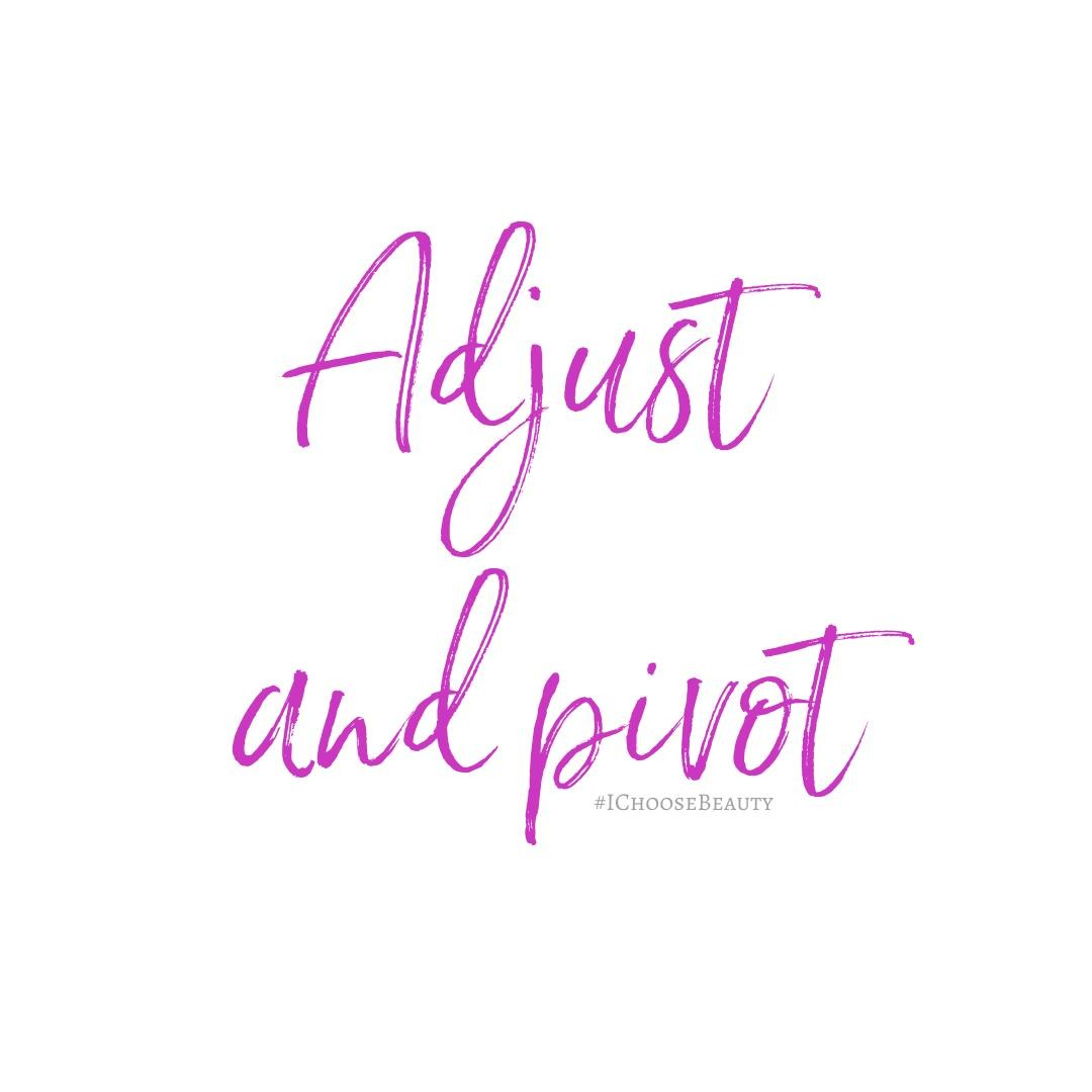 Adjust and pivot: It's been our collective mantra over the past few weeks, hasn't it? So much has changed, but we have to keep going and figure out how to move forward through these turbulent times. Adjust and pivot, friends. We've got this. #ichoosebeauty #mhm2020 #mentalhealthmonth #mentalhealthawarenessmonth #coronaviruspandemic #coronapandemic #pandemic2020 #coronavirus2020 #lifeinthetimeofcorona #quarantinemood #quarantinevibes #quarantinequotes #covid2020 #lookforthelight #healingtools #healingyourself #healingfromwithin #mentalhealthsupport #mentalhealthisimportant #mentalhealthtips #mentalhealthhelp #mentalhealthjourney #mentalhealthcare #mentalhealthadvice #mentalhealthcommunity #mentalwellness #mentalhealthishealth #mentalwellness